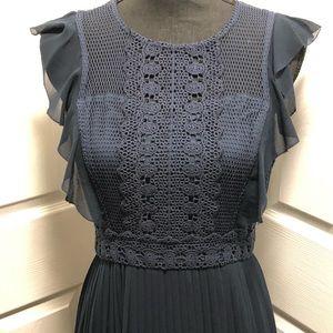 ModCloth Navy Blue Pleated Dress